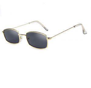 Правоъгълни слънчеви очила тъмно жълти рамки