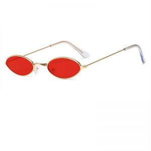 Червени овални очила