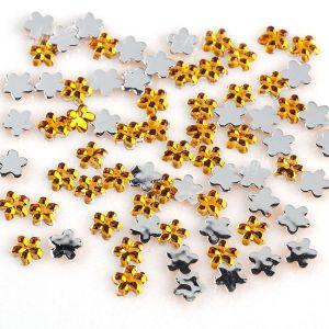 Жълти кристални цветя