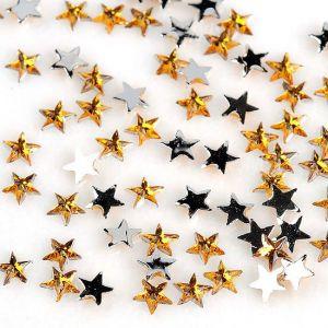 Жълти звездички за нокти