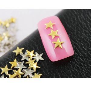 Метални форми - златни звездички