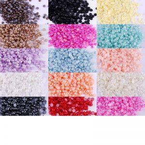 500 перли за нокти микс 18 цвята 3 милиметра.