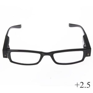 унисекс очила с диоптър и светлина