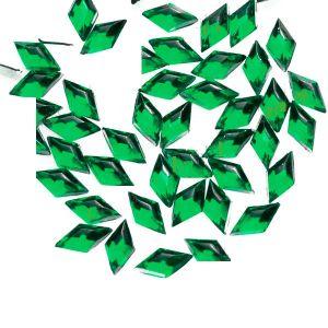 Ромбоиди зелени за декорация на маникюр