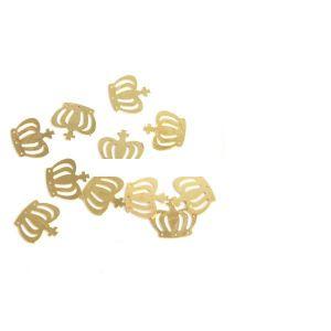 декорация на нокти златна корона