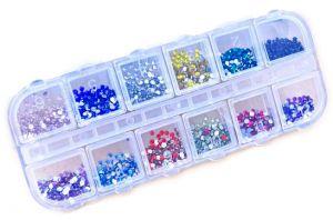 арт нокти 12 различни цвята . 3000 броя