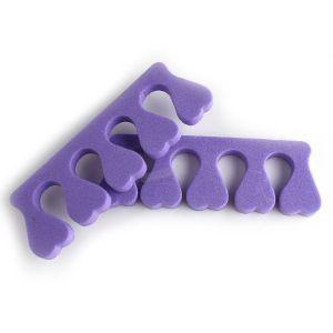 Лилави разделители за пръсти