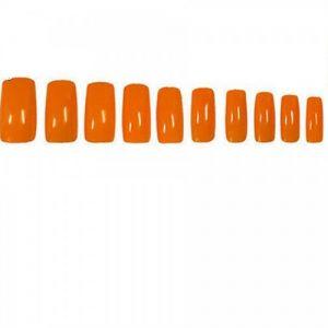 Оранжеви изкуствени нокти