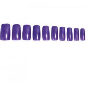 Лилави изкуствени нокти