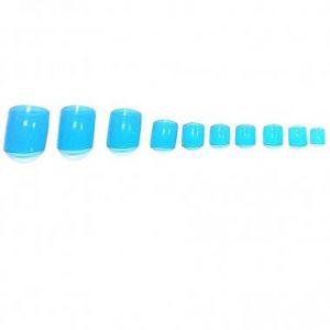 Нокти за педикюр в синьо
