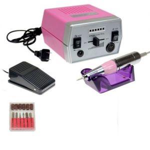 Розова електрическа пила за маникюр