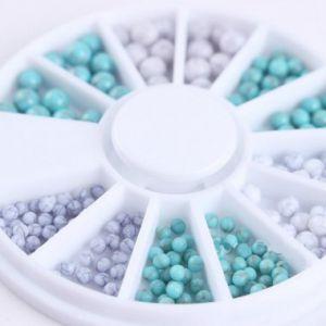 Сет двуцветни топчета за нокти